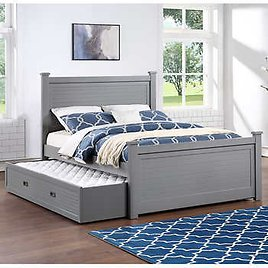 Caramia Kids Aiden Full Bed with Trundle - Pebble Gray