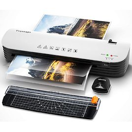 Laminator, Toyuugo A4 Laminator Machine, 4 in 1 Thermal Laminator for Home Office School Use, 9 Inches Max Width, Quick Warm-Up,