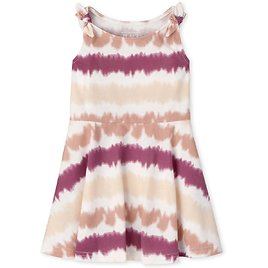 Baby And Toddler Girls Tie Dye Knot Skater Dress