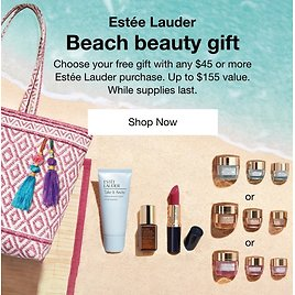 FREE 7-Pc. Gift with Any $45 Estée Lauder Purchase. Up to a $155 Value!