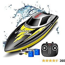 Remote Control Boat for Adults or Kids, SYMA Q7 2.4GHz Fast RC Boats for Pools and Lakes with 20+ Mph High Speed, Capsize Recovery, Low Battery Reminder, Water-Cooled System, Toys Boat for Boys Girls