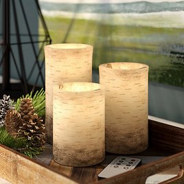 3 Pieces Vanilla Scented Flameless Candle Set 64% Off