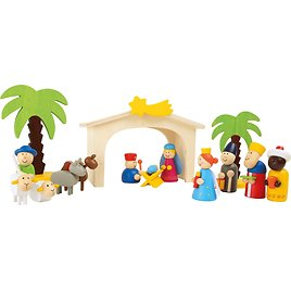 Small Foot Wooden Toys Premium Nativity Manger Complete Set Designed for Children Ages 3+ Years (3945)