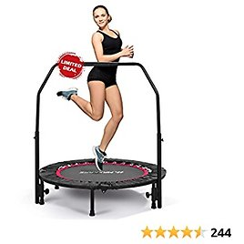 """MaxKare 40"""" Fitness Trampoline for Kids Adults-Mini Exercise Rebounder Indoor & Outdoor $58.49"""