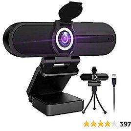 4K Webcam with Microphone Ultra HD Web Camera for Computers
