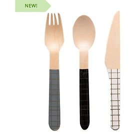 96 Piece 100% Bamboo Cutlery Set - Eco-friendly Alternative to Plastic Flatware! These Are Both Reusable and Decomposable; No Guilt or Pollution. Perfect for Your Next Picnic, Party, BBQ, Hike..the Possibilities Are Endless. Order 3 or More Sets...