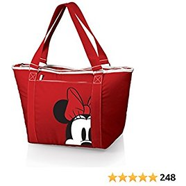 Disney Classics Mickey/Minnie Mouse Topanga Insulated Cooler Bag, Minnie Mouse/Red