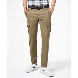 Washed Cotton Stretch Cargo Pants - Brooks Brothers