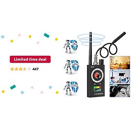 Limited-time Deal: Innoo Tech Anti Spy Detector & Camera Finder RF Signal Detector GPS Bug Detector Hidden Camera Detector for GSM Tracking Device GPS Radar Radio Frequency Detector