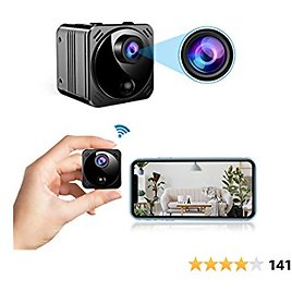 Mini Spy Camera Wireless Hidden Cameras WiFi - Real 1080P HD Hidden Nanny Cam with Cell Phone App, Small Covert Security Camera with Night Vision Motion Detection for Home/Car/Indoor/Outdoor