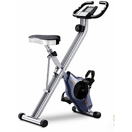 BCAN Folding Exercise Bike with Magnetic Resistance,Pulse Monitor and Comfortable Seat