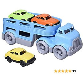 Green Toys Car Carrier, Blue CB - Pretend Play, Motor Skills, Kids Toy Vehicles. No BPA, Phthalates, PVC. Dishwasher Safe, Recycled Plastic, Made in USA.