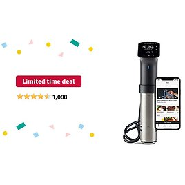 Limited-time Deal: Anova Culinary | Sous Vide Precision Cooker Pro (WiFi) | 1200 Watts | All Metal | Anova App Included