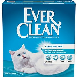 EVER CLEAN Everfresh Unscented Clumping Clay Cat Litter, 25-lb Box - Chewy.com