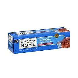 Complete Home Resealable Freezer Bags Quart(3 Pack)