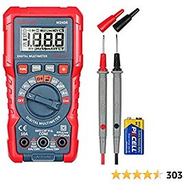 AstroAI M2K0R Digital Multimeter with DC AC Voltmeter and Auto Ranging Tester ; Measures Voltage, Current, Capacitance; Tests Live Wire, Continuity