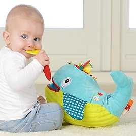 Dolce Play & Learn Whale Plush Interactive Stuffed Animal Plush Toy