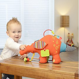 Dolce Play and Learn Aardvark Interactive Stuffed Animal Plush Toy