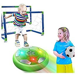 HOMOFY Hover Soccer Ball Set Kids Game Toys , Ball Toy with LED Light Air Soccer with 2 Goals, Fun Indoor Football Gifts for 3 4 5 6 7-12 Years Old Boys, Girls,Toddlers Toys