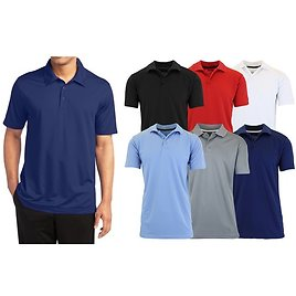 75% OFF Galaxy By Harvic Mens ASST Moisture Wicking S/S Polo 4PK