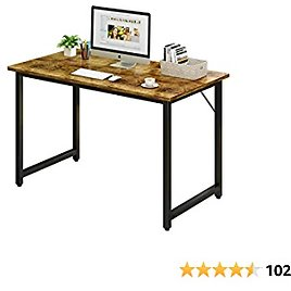 """Dlrnwiro Computer Desk 39"""" Home Office Desk Sturdy Home Office Table Modern Simple Style Table for Home Office Notebook Writing Desk"""