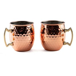 Thirstystone 2 Pack Of 20 Oz Faceted Copper Moscow Mule Mugs