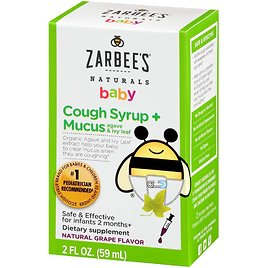 Zarbees Naturals Baby Cough Syrup + Mucus Grape