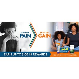 Up to $100 in Rewards with Purchase of Select Pain Relief Products (Tons of EGift Card Choices!)