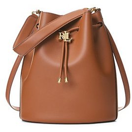 Andie Large Leather Drawstring Bag (5 Colors)
