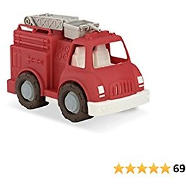 Wonder Wheels By Battat – Fire Truck – Red Fire Truck Toy with Moveable Ladder & Basket – Classic Rescue Vehicle for Toddlers, Kids – Recyclable – 1 Year Old +