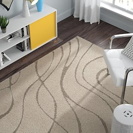 65% OFF Stacie Abstract Cream/Beige Area Rug