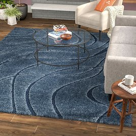 67% OFF Stacie Abstract Blue Area Rug