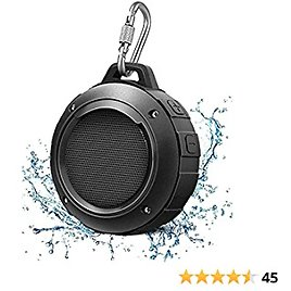 Outdoor Waterproof Bluetooth Shower Speaker, Portable Mini Shower Travel Speaker, Bocinas Bluetooth with Subwoofer, Enhanced Bass,Suitable for Sports, Pool, Beach, Hiking, Camping, Boating(Black)