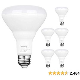 6 Pack Flood Light Bulb, BR30 LED Bulb for Indoor/Outdoor Downlight Recessed Can Light, Dimmable, 11W=75W, 3000K Warm White, 1000lm, E26 Base, UL Listed