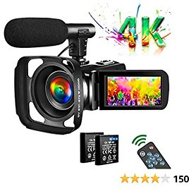 Video Camera 4K Camcorder Vlogging Camera for YouTube UHD 30M 30FPS Digital Zoom Camcorder 3 In Touch Screen Support Webcam Microphone