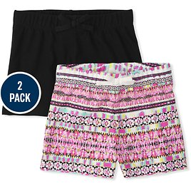 Girls Mix And Match Knit Shorts 2-Pack | The Children's Place