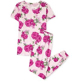 Womens Mommy And Me Short Sleeve Floral Print Cotton Pajamas | The Children's Place