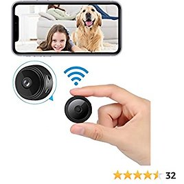 2021 New Version Mini WiFi Hidden Cameras,Spy Camera with Audio and Video Live Feed,with Cell Phone App Wireless Recording -1080P HD Nanny Cams with Night Vision.Tiny Cameras for Indoor/Outdoor Using
