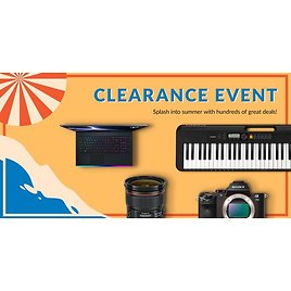 """""""Splash Into Summer Clearance Event"""""""