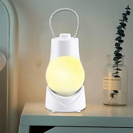 Night Light, BZ Portable Night Lamp for Kids, USB Rechargeable Warm Light with Music, Multifunction Night Light for Bedroom, Bathroom, Kitchen