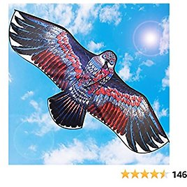 """Kites for Adults,Kite for Kids, Easy to Fly 71"""" Large Eagle Kites for Outdoor Games and Activities Beach Kite for Beginner with 300ft Kite Line"""