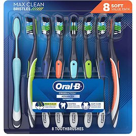 8 Pack Oral-B CrossAction Advanced Toothbrush Just $11.99