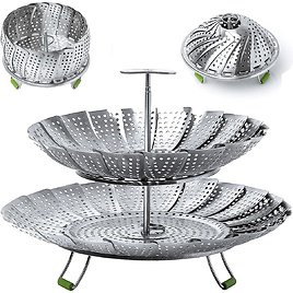 Two Pack Stainless Steel Steamer Baskets