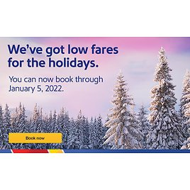 Now Book Through Jan 5th 2022 | Southwest Airlines