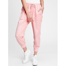Gap Drawstring Joggers In Twill With Washwell
