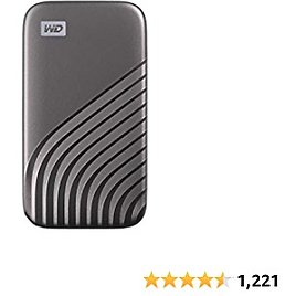 WD 4TB My Passport SSD External Portable Solid State Drive, Grey, Up to 1,050 MB/s, USB 3.2 Gen-2 and USB-C Compatible (USB-A for Older Systems) – WDBAGF0040BGY-WESN