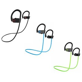 Neckband Sweatproof Wireless Earbuds with Microphone and Call Notification