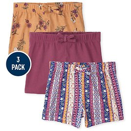 Toddler Girls Shorts 3-Pack ON SALE