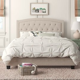 Milo Tufted Upholstered Low Profile Bed