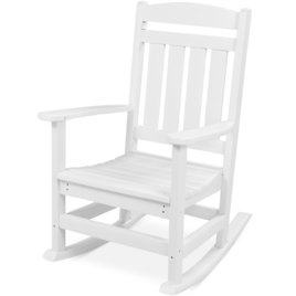 All-Weather Indoor Outdoor Porch Rocking Chair w/ 300lb Weight Capacity